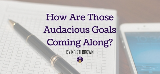 How Are Those Audacious Goals Coming Along?