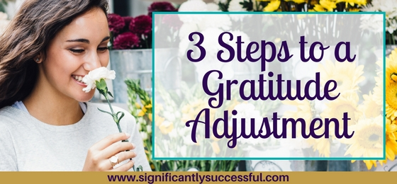 3 Steps to a Gratitude Adjustment